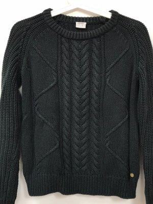Dunkelgrüner Strickpullover, Esprit, XS, 32/34, 51% Baumwolle, wie neu, schönes Strickmuster, chunky Knit Style