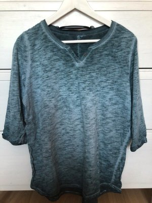 Lang shirt petrol-staalblauw