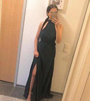 Dunkelgrünes Abendkleid