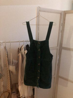 Dunkelgrünes Cord Kleid
