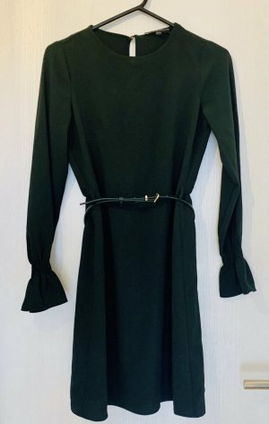 Dunkelgrünes Dorothy Perkins Kleid Etuikleid mit Gürtel