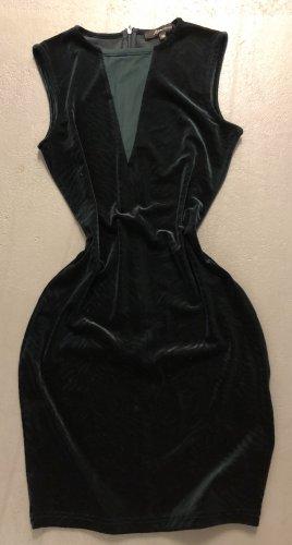 Ann Christine Mini-jurk donkergroen