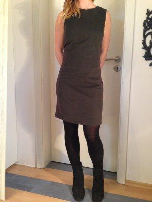 dunkelgrünes Etui-Kleid, Stretchanteil, von Mango, Größe S