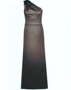 dunkelgrünes, feminines One-Shoulder-Abendkleid - neuwertig!