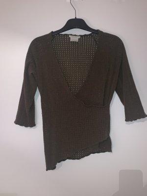 Mariella Burani Coarse Knitted Jacket dark green wool