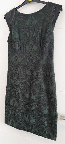 Atmosphere Robe à manches courtes noir-vert foncé