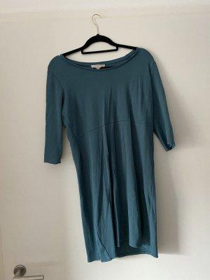 Dunkelgrünes Kleid von Cream, Flaschengrün, Tannengrün, Basic, Casual, Büro