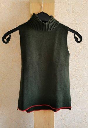 Zara Knit Neckholder Top dark green-red