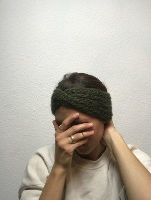 Dunkelgrünes Stirnband