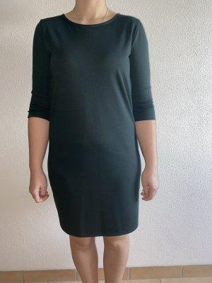 dunkelgrünes Stoffkleid