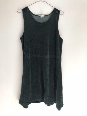 Vintage A-lijn jurk donkergroen-petrol