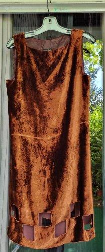 Jean Paul Gaultier Cocktail Dress bronze-colored-brown silk