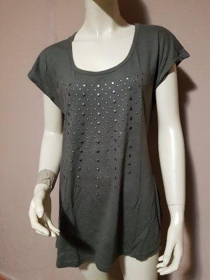 dunkelkhaki Tshirt mit runden Nieten NEU Gr. 36