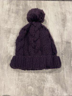 Wełniana czapka czerwona jeżyna-brązowo-fioletowy