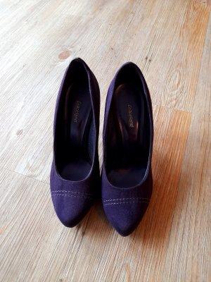 Dunkellila Velourleder High Heels von Graceland