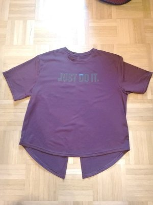 "Dunkelrot-lila Sport T-Shirt ""Just Do It"""