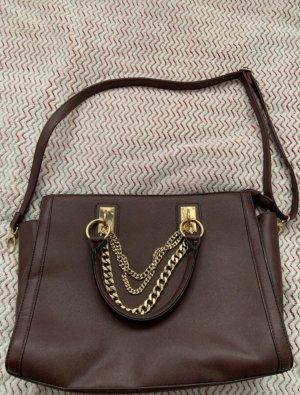 Dunkelrot-Lilafarbene Handtasche
