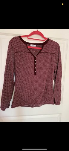 Dunkelrote Bluse mit Muster