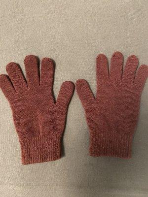 Gebreide handschoenen braambesrood