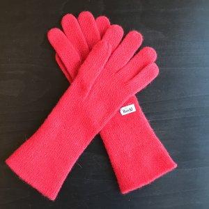 Dunkelrote Handschuhe von Roeckl