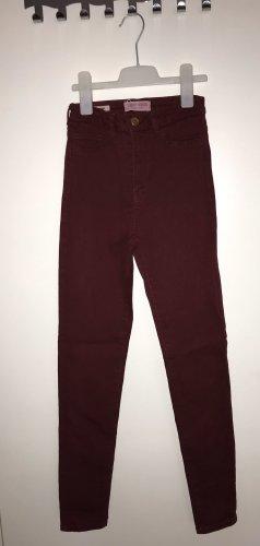 Tally Weijl Hoge taille jeans donkerrood-bordeaux