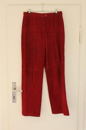 Lecomte Pantalon en velours côtelé rouge foncé tissu mixte
