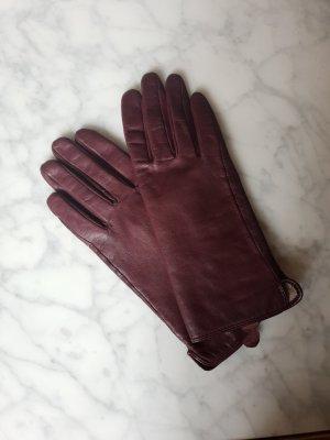 H&M Premium Gevoerde handschoenen bordeaux