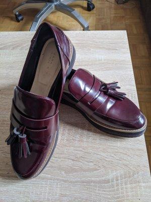 Zara Zapatos formales sin cordones burdeos