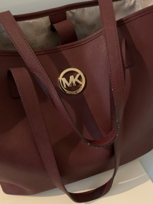 Dunkelrote Shoppingbag von Michael Kors