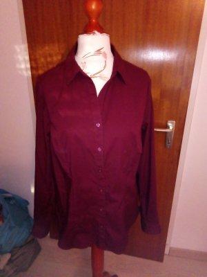 dunkelrote Stretch-Bluse