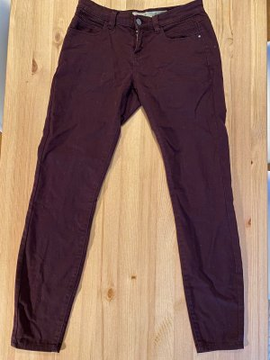 Denim Co. Five-Pocket Trousers bordeaux-brown red
