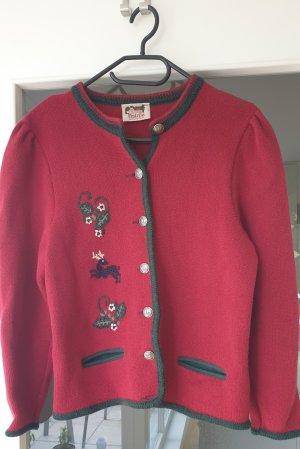 Tradycyjna kurtka ciemnoczerwony-ciemnozielony