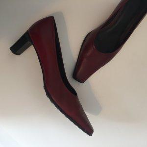 dunkelrote Vintagetaum Schuhe Pumps Gr.37 Bordeaux