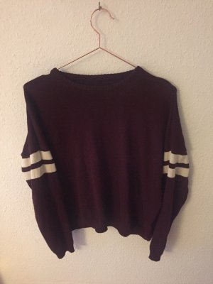 Brandy & Melville Crewneck Sweater multicolored cotton