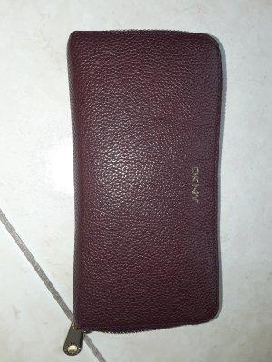 DKNY Portefeuille violet cuir