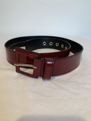 Roberto Bellido Hip Belt dark red-silver-colored leather