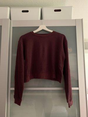 Dunkelroter Sweatshirt