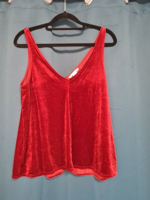 H&M A Line Top dark red