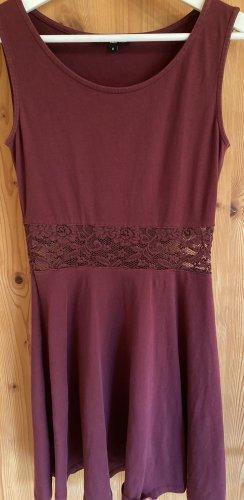 Tally Weijl Vestido de Verano burdeos-rojo amarronado