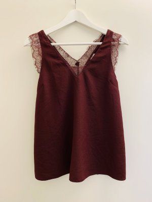 Asos Lace Top bordeaux-dark red