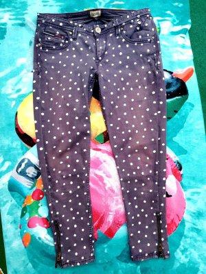 Dunkelviolette Jeans mit weißen Punkten HILFIGER Denim