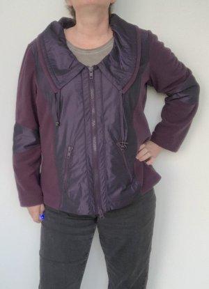 dunkelviolette Kurz-Jacke von Samoon, Größe 46