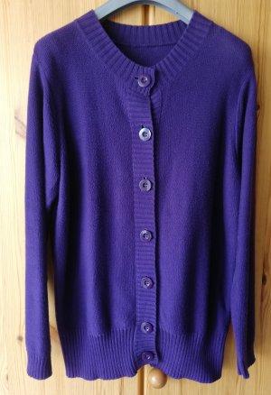 DW-Shop Veste en tricot violet foncé