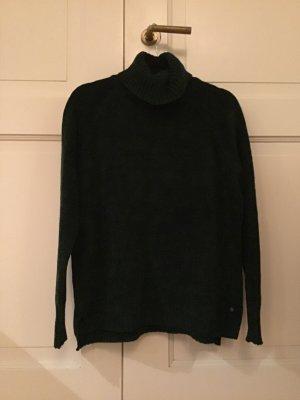Brax Sweter z golfem ciemnozielony