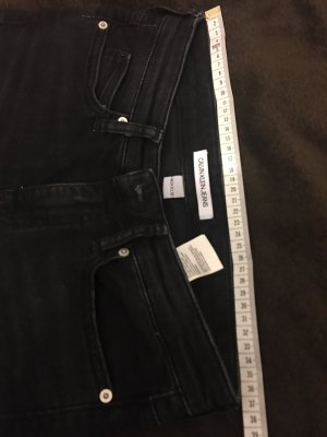 Calvin Klein Jeans Jeansy o obcisłym kroju antracyt-czarny