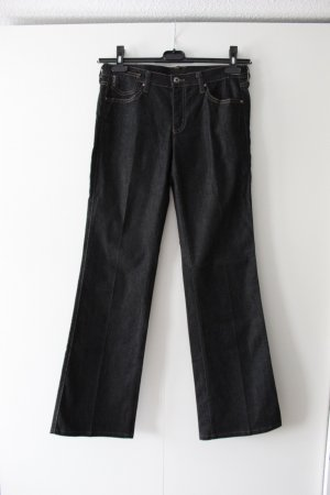 Armani Jeans Boot Cut Jeans black-dark blue