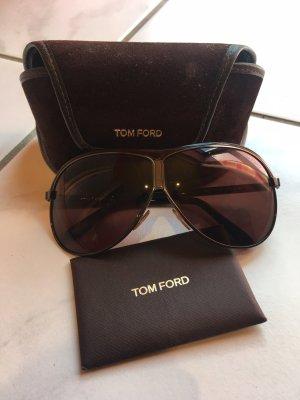 Tom Ford Lunettes aviateur brun noir