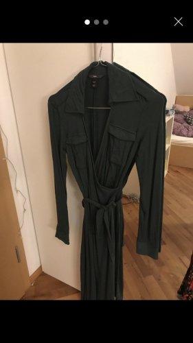 H&M Vestido tipo blusón verde oscuro