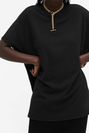 Monki Camiseta negro-marrón-negro