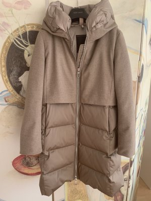Down Coat grey brown polyester